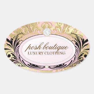 311 Opulent Gold Pink Oval Sticker