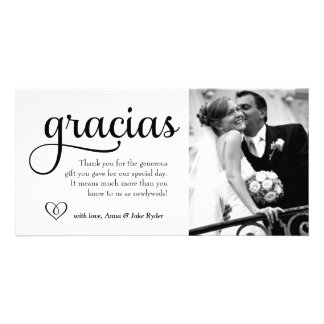 311 Ornate Gracias Photo Card with Heart