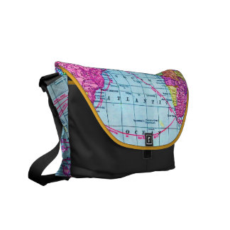 311 Our Colorful World Map Black Interior Commuter Bags