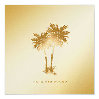 311-Paradise Found | Golden Palms Metallic Paper Card