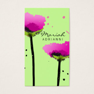 311 PASSIONATE POPPY LIME GREEN BUSINESS CARD