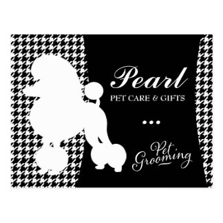 311 Pearl the Poodle Pet Grooming Houndstooth Postcard