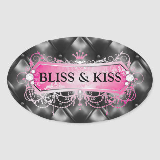 311 Pink Bliss Golden Tuft Oval Sticker