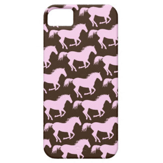 311 Pink & Brown Horse Print iPhone 5 Cases