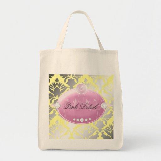 311 Pink Delish Lemon Canvas Bags