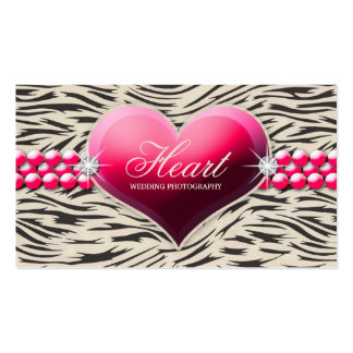 311-Pink Glam Heart Business Card