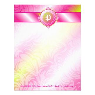 311-Pink Lime Sugar Monogram Letterhead