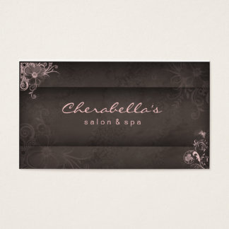 311 Pink Taupe Salon Spa Floral business card