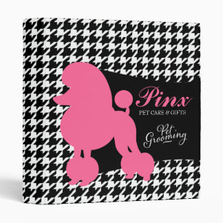 311 Pinx the Poodle Pet Care 3 Ring Binders