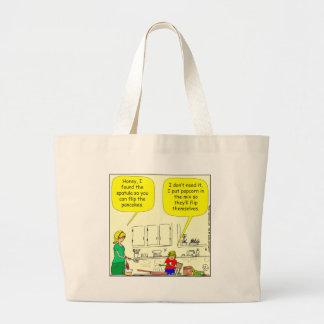 311 Popcorn pancakes cartoon Canvas Bags