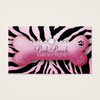 311 Posh Pooch Pink Zebra Business Card