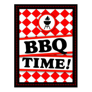311 RED HOTT BBQ INVITATION POSTCARD