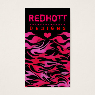311 RED HOTT FLAMES BUSINESS CARD