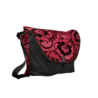 311 Red Lace (Faux Lace) Commuter Bags