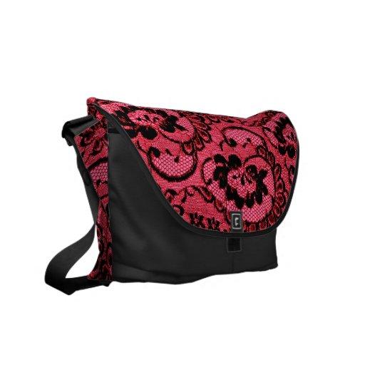 311 Red Lace (Faux Lace) Commuter Bags