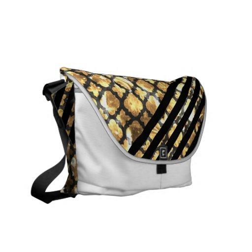 311 Retro Clover Burnt Marshmallow Black Stripes Messenger Bag