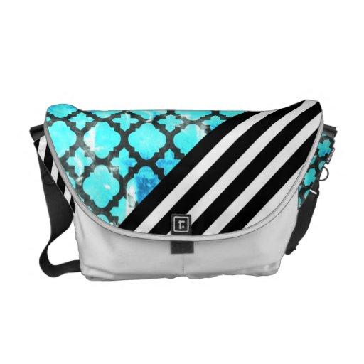 311 Retro Clover Wave Crash #2 Black Stripes Courier Bag