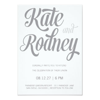 311 Retro Gray Custom Wedding Contact Me Card