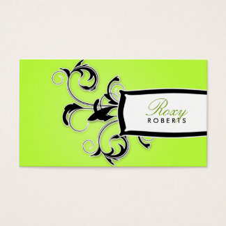 311 Roxy Lime and Black Business Card