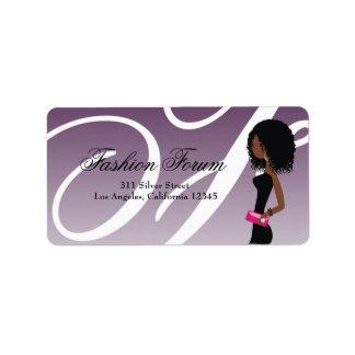 311 Sassy African American Fashionista Label