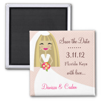 311-SAVE THE DATE BLONDE BRIDE MAGNET