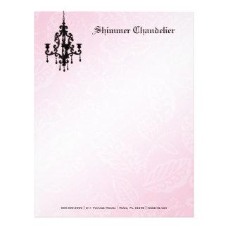 311-Shimmer Chandelier Pink Letterhead