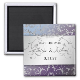 311-Silver Divine Hydrangea Save the Date Magnet