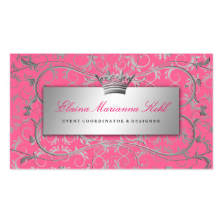 311-Silver Divine | Luscious Pink Pack Of Standard Business Cards