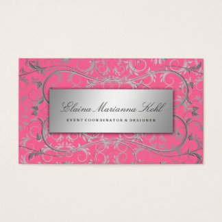 311 Silver Divine Luscious Pink Business Card