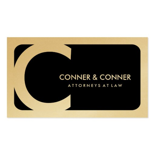 311-Sleek Corporate | Law Gold Card Business Card Templates