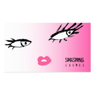 311-Smashing Lash Damask Pink Flame Double-Sided Standard Business Cards (Pack Of 100)
