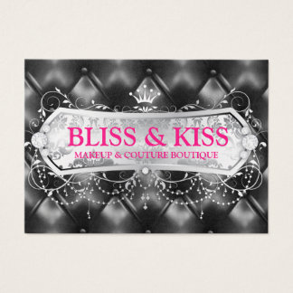 311 Snow Bliss Black Tuft Metallic Business Card