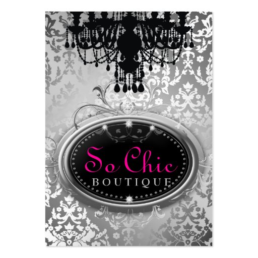 311 So Chic Boutique Silver Business Card Template