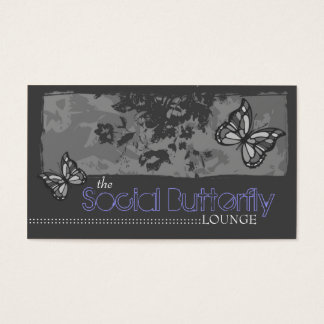 311 SOCIAL BUTTERFLY GRAY BUSINESS CARD