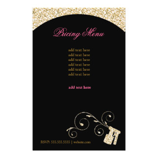 311 Spray Flyer Gold Faux Sparkle