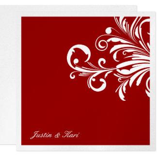 311-Swanky Swirls Rouge Metallic Card