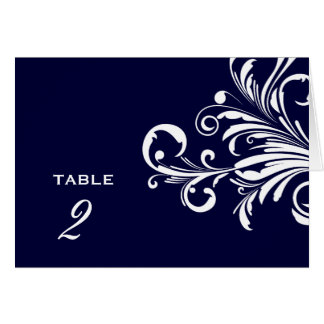 311-Swanky Swirls Table Numbers Navy Blue