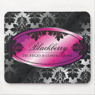 311-Sweet Blackberry Truffle Damask Mouse Pad