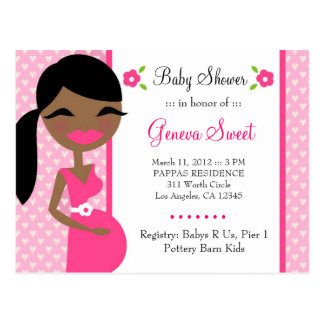 311-SWEET MOMMY TO BE GIRL AFRICAN AMERICAN POSTCARD