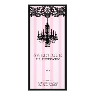 311 Sweetique Pink Stripes Menu Card