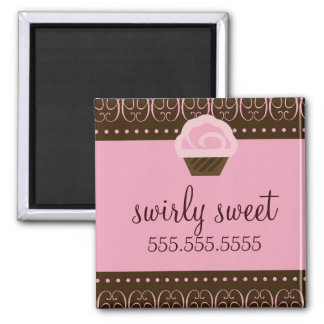 311 Swirly Pink Brown Magnet