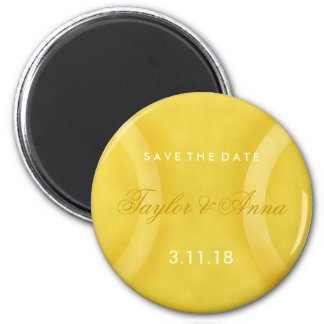 311-Tennis Lovers - Save the Date 2 Inch Round Magnet