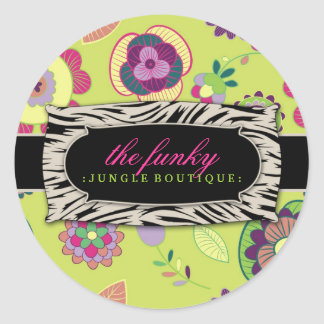 311 The Funky Jungle Lime Flowers Sticker