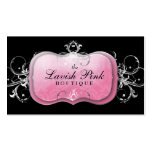 311 The Lavish Pink Plate Silver Business Card
