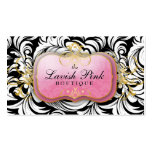 311 The Lavish Pink Plate White Leaves Business Card