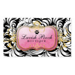 311-The Lavish Pooch   White Leaves Business Card