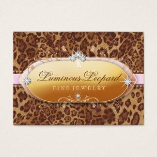 311 The Luminous Leopard Pink Trim Business Card