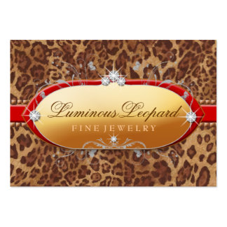 311 The Luminous Leopard Red Trim Business Cards
