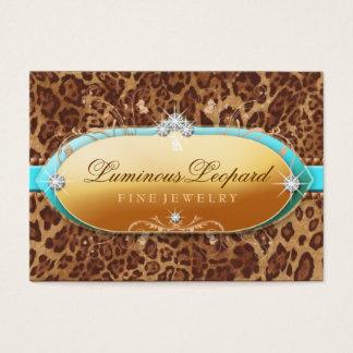 311 The Luminous Leopard Turquoise Trim Business Card