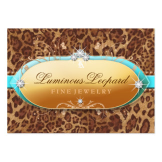 311 The Luminous Leopard Turquoise Trim Large Business Card